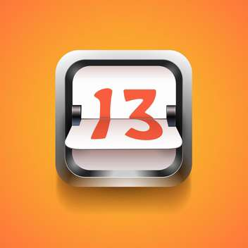 Mechanical scoreboard number on orange background - Free vector #130838
