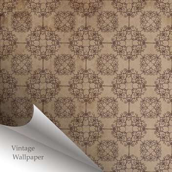 Vector wallpaper design with folded corner - vector gratuit #130858
