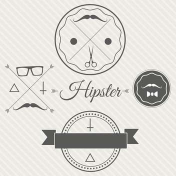 Hipster style background with labels and tags - vector gratuit #130888