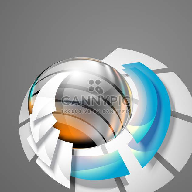 Abstract 3d circle bend lines on grey background - Free vector #130938