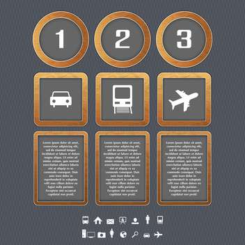 Transport type icons vector illustration - vector #131038 gratis