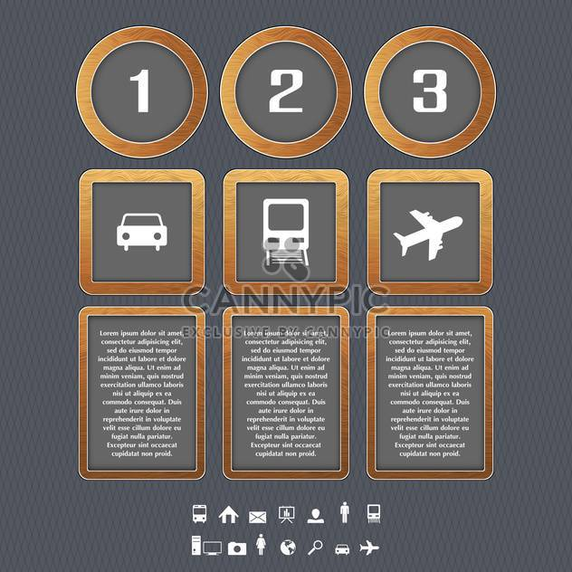 Transport type icons vector illustration - Free vector #131038