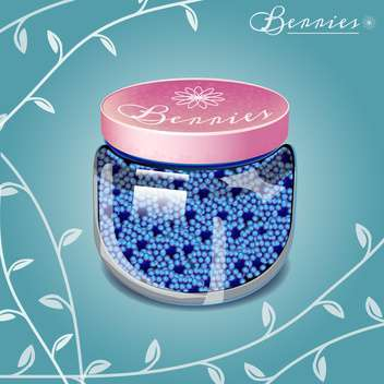 Blueberry jam on blue background vector illustration - vector #131068 gratis