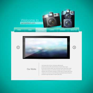 Web site design template vector illustration - vector gratuit #131088