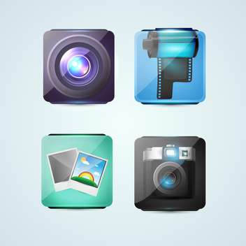 Vector photo icons for web use - Free vector #131098