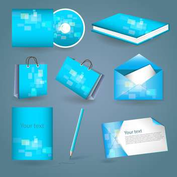 Set of templates corporate identity - vector gratuit #131118