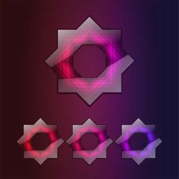 8 point star vector icons on dark background - бесплатный vector #131158