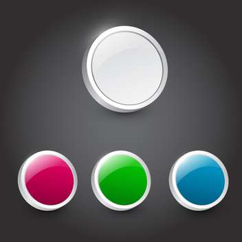 Vector color web buttons set - Kostenloses vector #131168