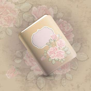 Floral design of notebook vector illustration - Free vector #131188