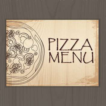 Design menu with pizza vector illustration - Kostenloses vector #131238