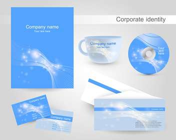 Set of templates corporate identity - vector gratuit #131268