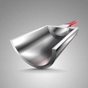 Metal scoop vector illustration on grey background - Free vector #131308
