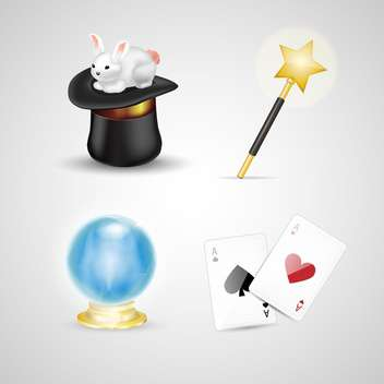 illusionist tools for a magical show - vector gratuit #131328