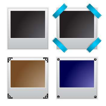 Vector illustration of polaroid photo frames - Free vector #131378
