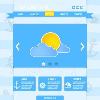 Weather icons for forecast vector illustration - vector #131418 gratis