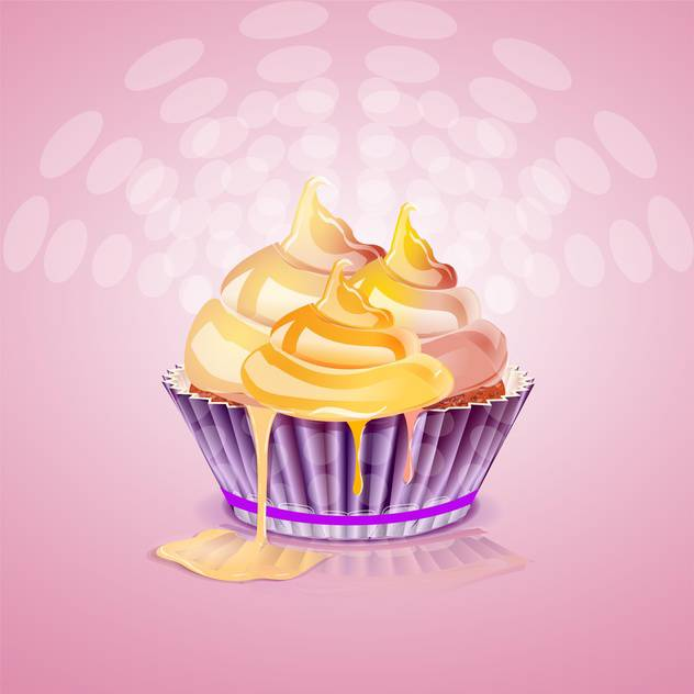 Cute and tasty birthday cake illustration - vector gratuit #131498