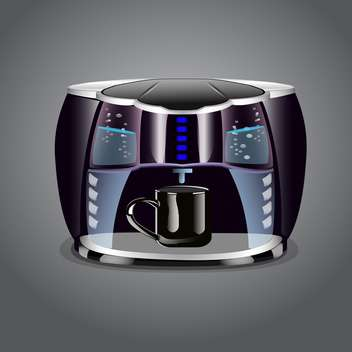 Coffee machine with cup on grey background - vector gratuit #131598