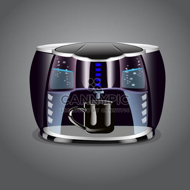 Coffee machine with cup on grey background - Kostenloses vector #131598