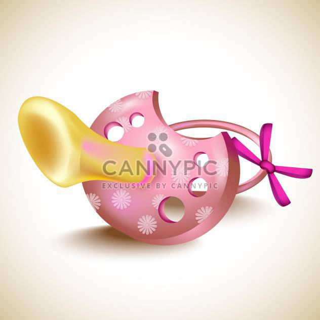 Vector pink pacifier illustration - Free vector #131618