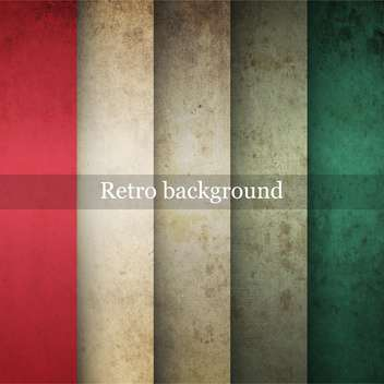 Vector vintage striped grunge background - vector gratuit #131668