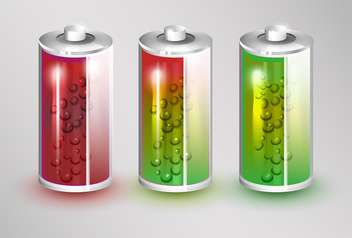 Vector set of batteries load standing on white background - vector #131718 gratis