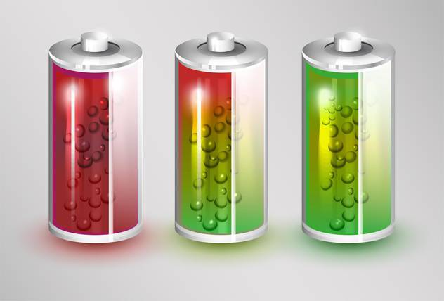 Vector set of batteries load standing on white background - Free vector #131718