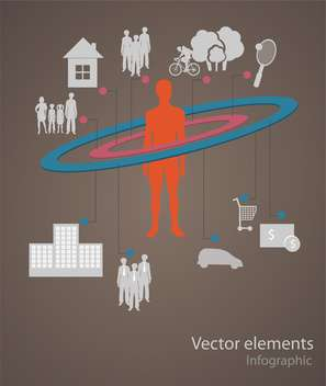 Vector infographic elements illustration - vector #131728 gratis
