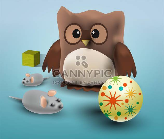 Vector illustration of different toys - Kostenloses vector #131768