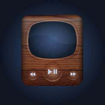 Vector retro style web player on dark background - vector gratuit #131778