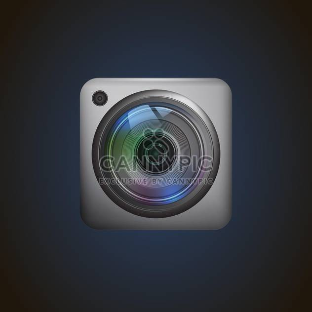 Photo camera web icon vector illustration - Free vector #131798
