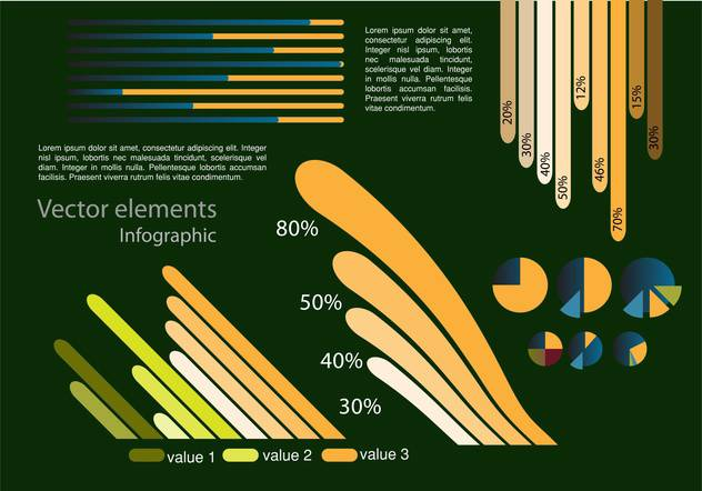 Vector infographic elements illustrations - Kostenloses vector #131818