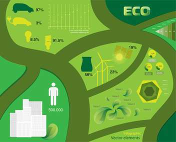 Vector infographic Ecology elements - vector gratuit #131838
