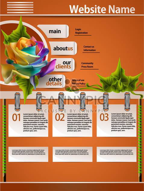 Web site design template vector illustration - Free vector #131908