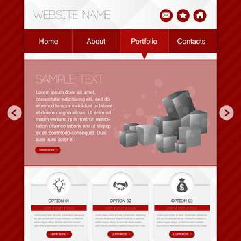 Web site design template vector illustration - Free vector #131918