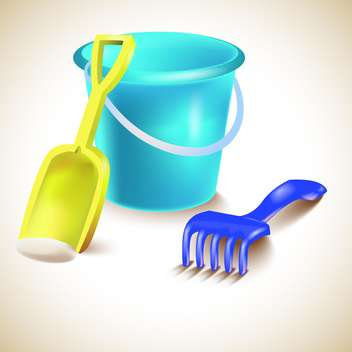 Vector illustration of toys for sandbox - Free vector #131968