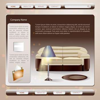 Web site design template vector illustration - vector #132048 gratis