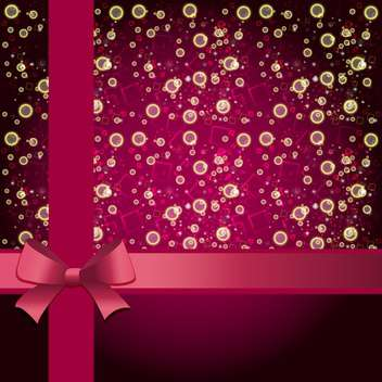 Elegant holiday background with gift pink bow and ribbon - vector #132068 gratis