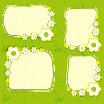 Vector floral frame set on green background - Kostenloses vector #132088