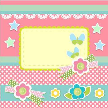 Vector set of cute frames with floral background - vector gratuit #132098