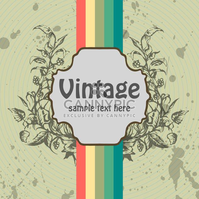 floral vector vintage background with colorful lines - Free vector #132218