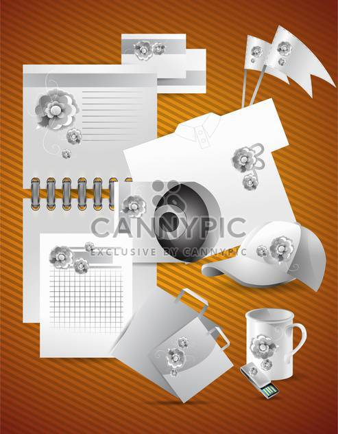 Corporate identity template with abstract elements,vector illustration - Free vector #132248