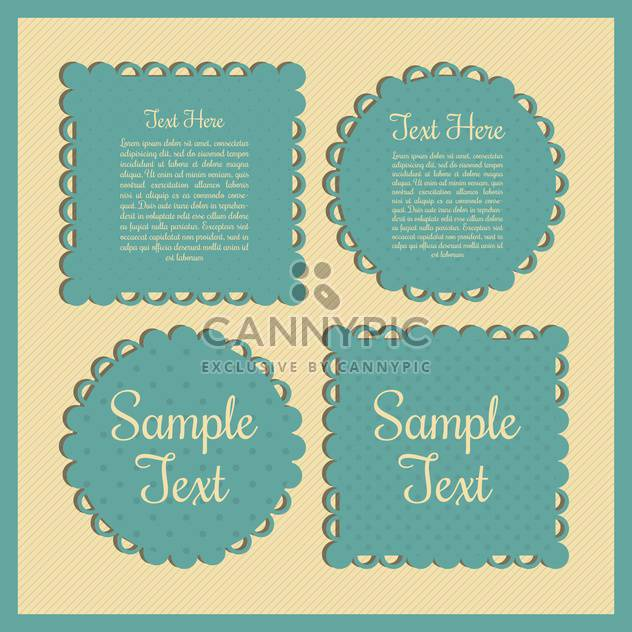 Vintage green frames with place for text on yellow background - Free vector #132298