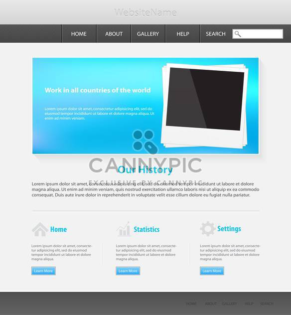Web site design template, vector illustration - Free vector #132328