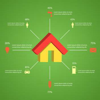 House icon and ecology environment objects,vector illustration - Free vector #132338