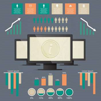 Business infographic elements - vector gratuit #132348