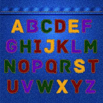 Vector jeans alphabet, fashion jeans texture - бесплатный vector #132358