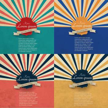 colorful retro background with a frames - vector gratuit #132408