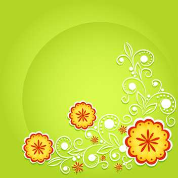 vector summer floral background - vector gratuit #132498