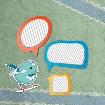 vector speech bubbles set with bird - Free vector #132518