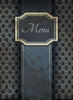vintage graphic menu background - vector #132538 gratis